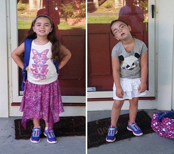ฮาได้อีก ! 8 ภาพบอกอารมณ์ตอนไป-กลับจากโรงเรียนของเด็ก ๆ